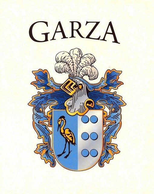 Garza Crest | party ideas | Family shield, Coat of arms