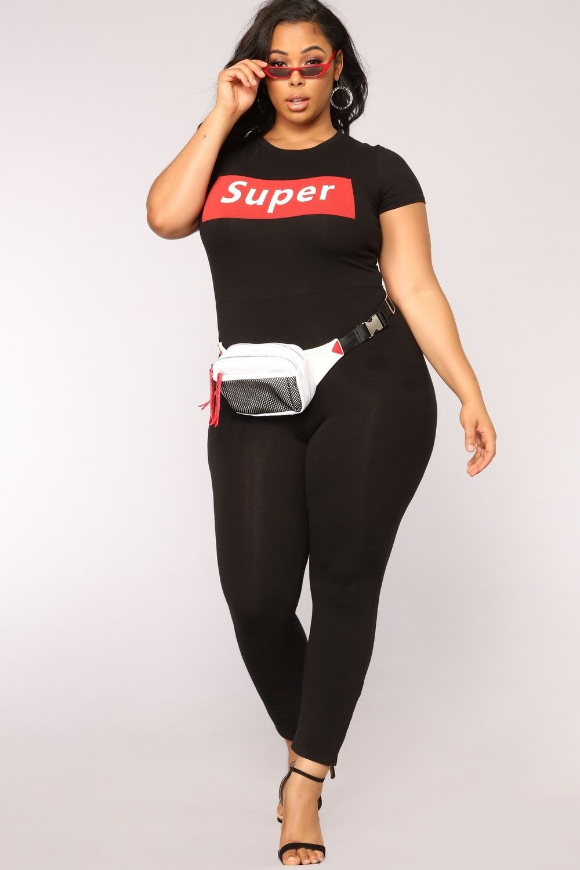 plus size f'n super babe jumpsuit - black $27.99 #ootd #style