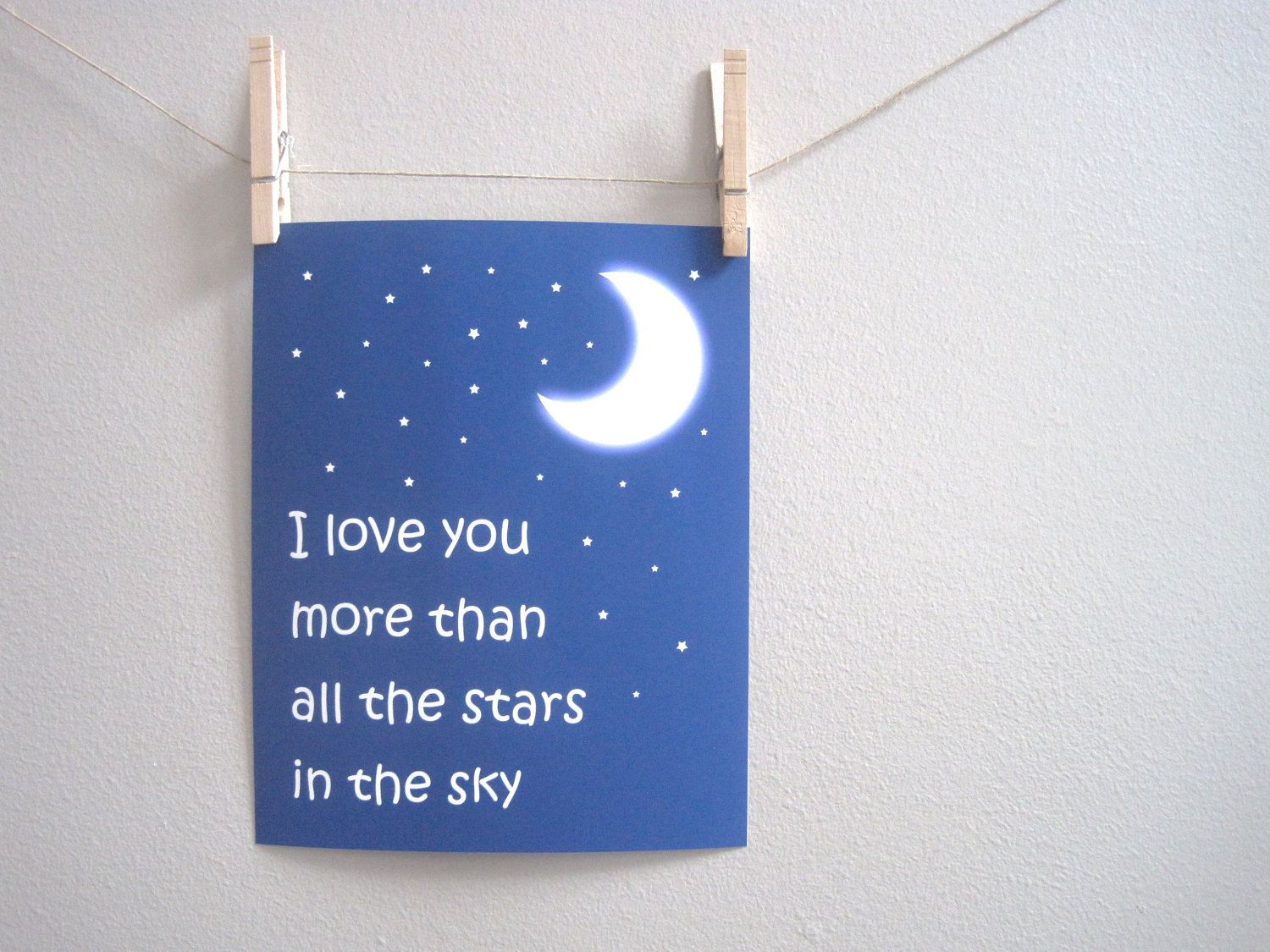 I love you more than all the stars wall art wow little solace