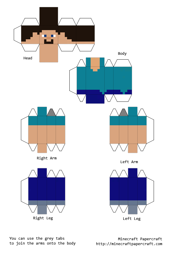 Papercraft Classic Steve | Minecraft | Pinterest | Papercraft