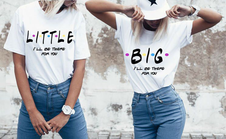 FRIENDS themed Sister shirts, Sorority shirts, Little big sorority sister shirts, I'll be there for you, G-big tees, Sorority Reveal Shirts