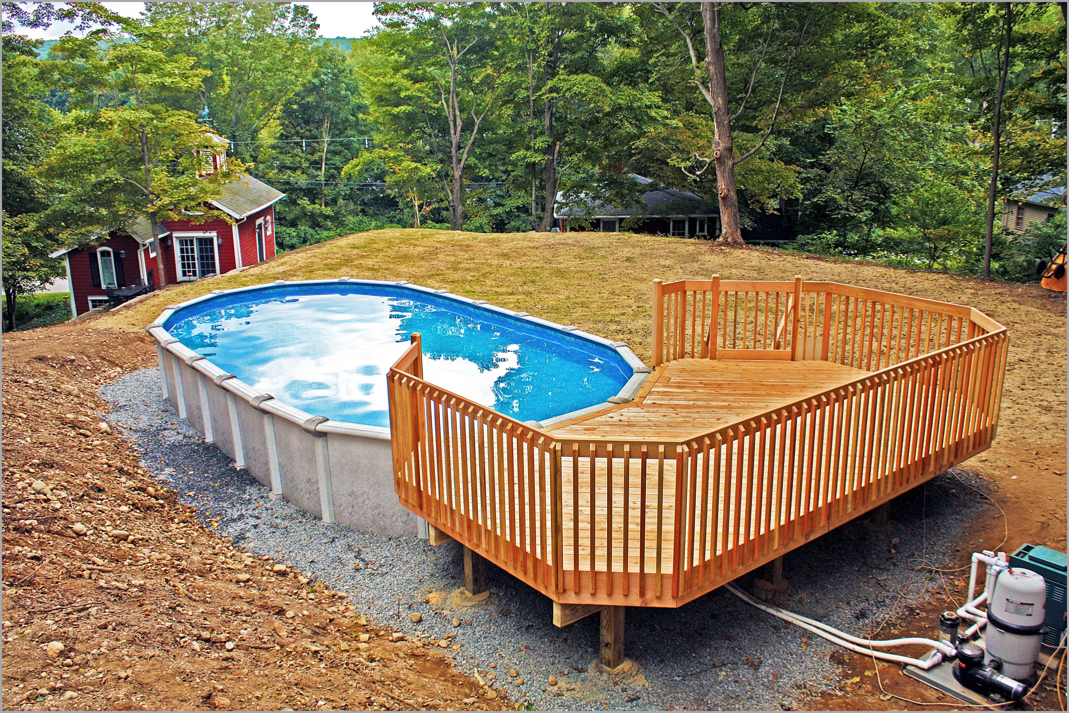 50 Best Above Ground Pools With Decks Best Above Ground Pool Oval Pool In Ground Pools