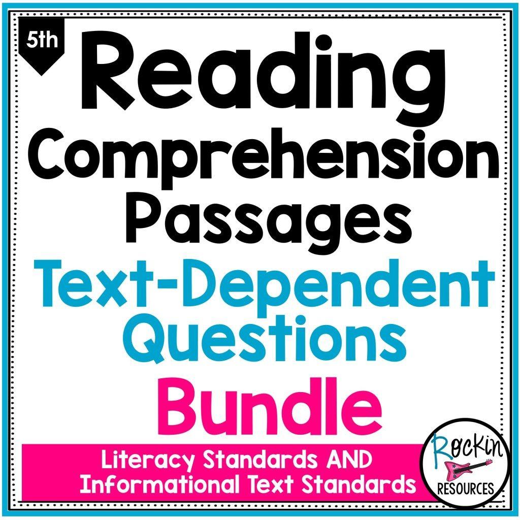 5th Grade Reading Comprehension Passages Bundle