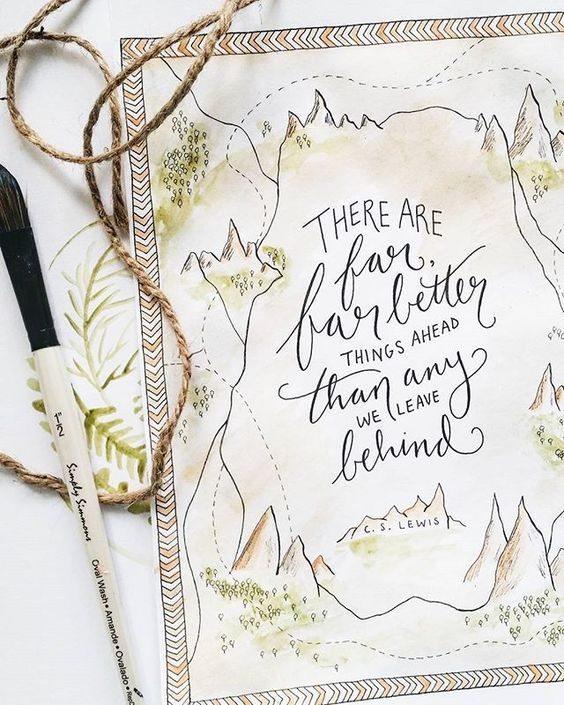 The Are Far, Far Better Things - Narnia Printable Art by Sweetpages Co