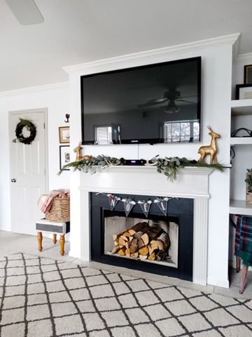 Would You Ever Consider Hanging Tv Above Fireplace Living Room