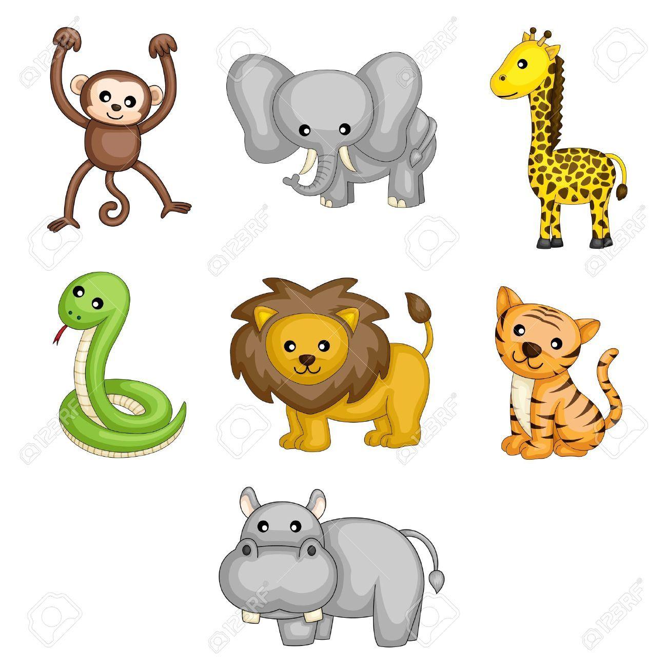 Hipopotamo Dibujo A Ilustraciones Vectoriales De Dibujos Animados De Animales Silvestr Hipopotamos Dibujo Animales Dibujos Animados Animales Salvajes Dibujos
