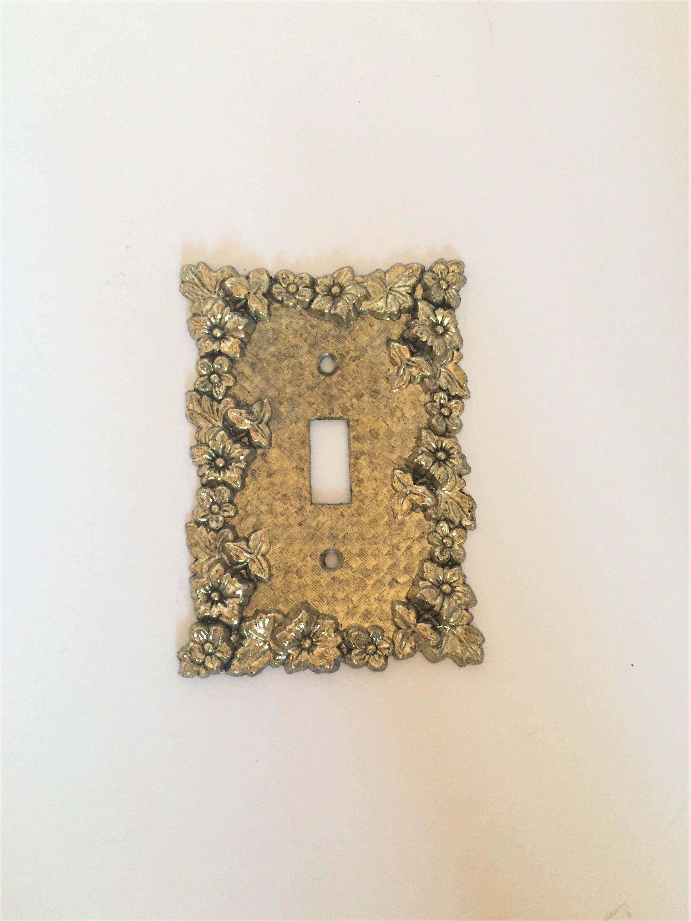 Decorative Metal Light Switch Covers Vintage Metal Light Switch Cover Ornate Brass Light Switchplate