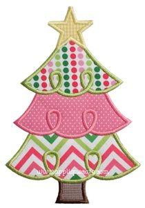 Christmas Tree Applique Design Machine Embroidery Christmas Applique Designs Christmas Applique