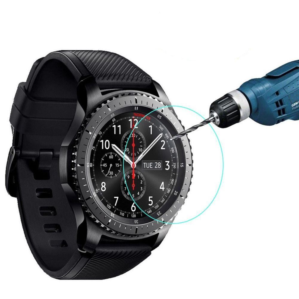 Kaufen Smartwatch Film Fur Samsung Getriebe S3 Frontier Klassische Display Schutz 9 H 2 Tempered Glass Screen Protector Glass Screen Protector Screen Protector