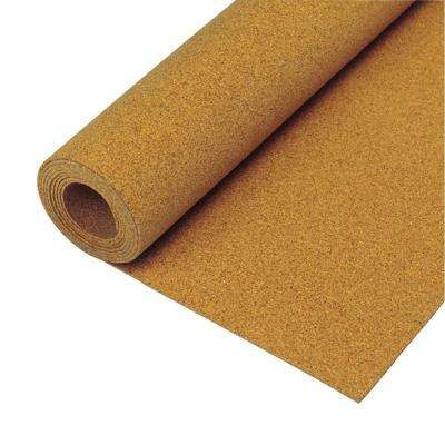 100 Sq Ft 48 In X 25 Ft X 1 4 In Natural Cork Underlayment Roll Cork Underlayment Flooring Trends Shelf Paper
