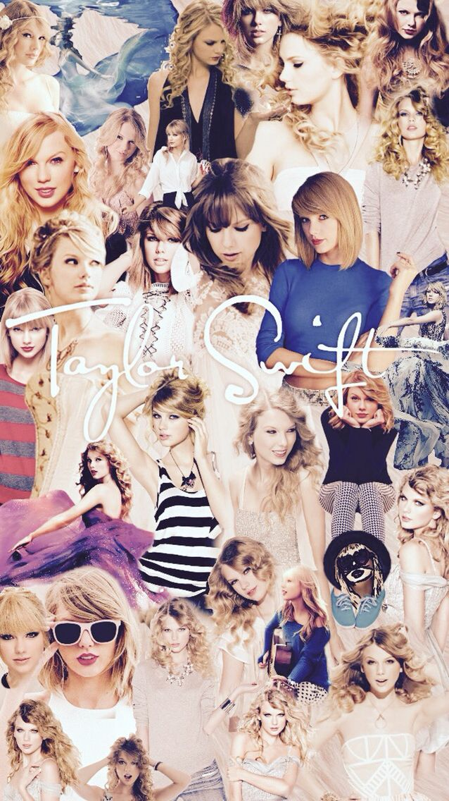 Taylor Swift Collage iPhone Wallpaper Edit By Claire