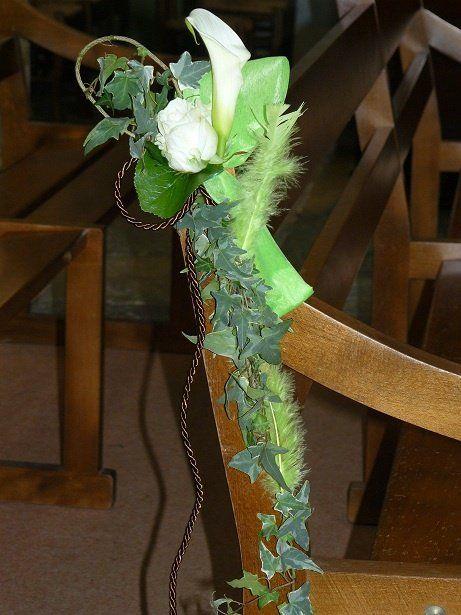 Decoration Mariage Banc D Eglise : Mariage banc eglise fleurs img deco pinterest