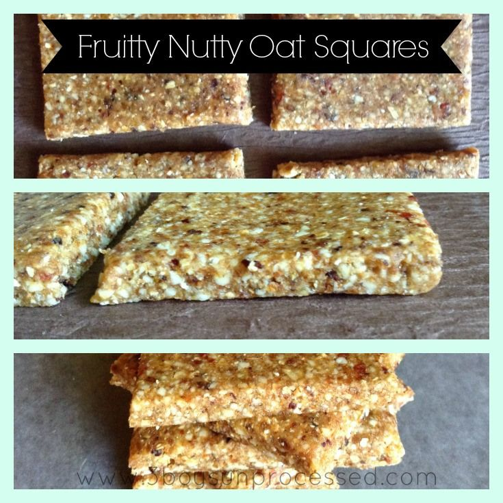 Fruity nutty oat squares with images food processor