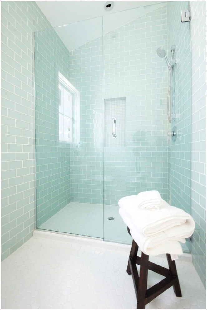 Milk glass tile bathroom contemporary with white hex flooring also best maison de  images on pinterest landscaping ideas yard