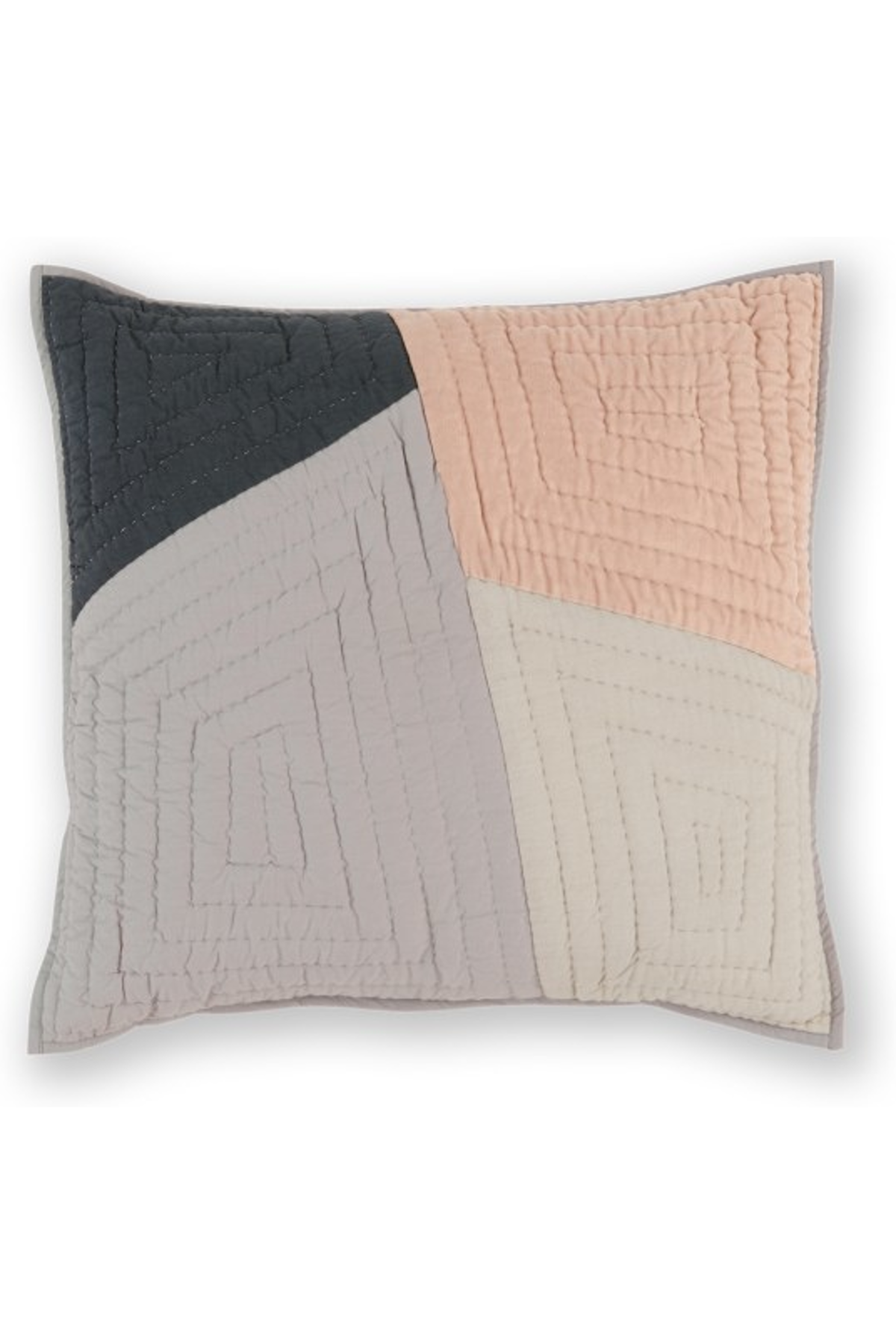 Made Grey Pink Cushion In 2020 Patchwork Cushion Pink Cushions Grey Cushions
