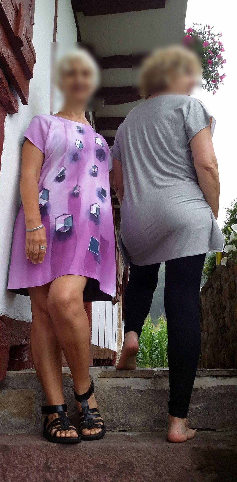 bf1f2ed653 Inicio - SilkUra GC - El arte en la tela Vestido y blusón de Viscosa ...