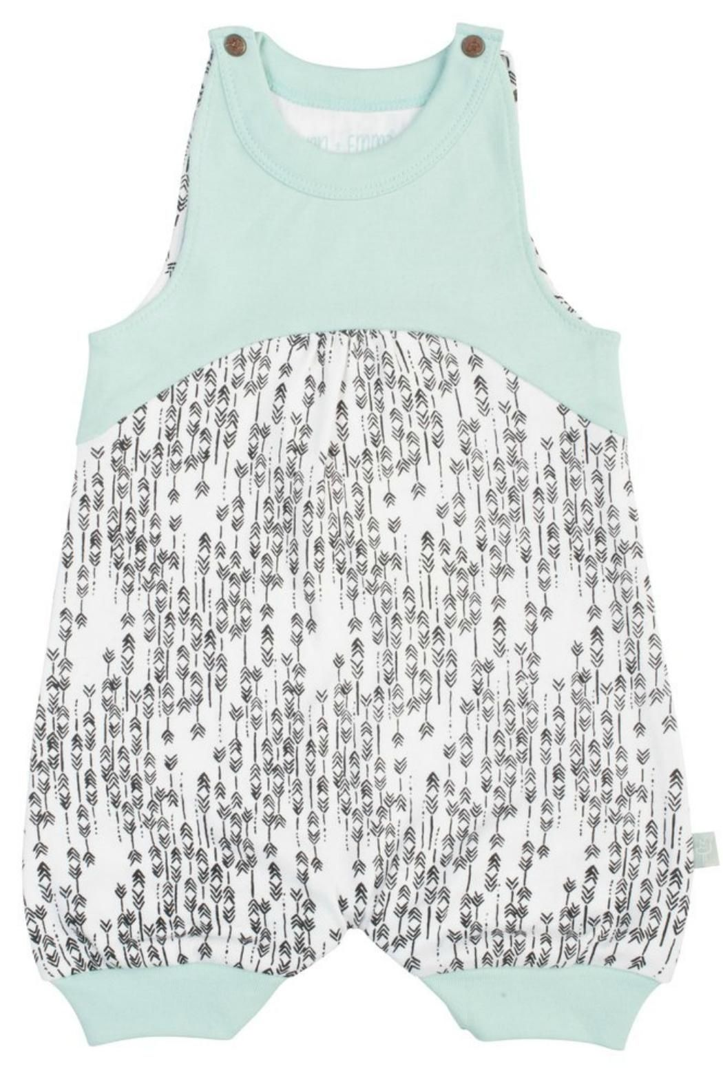 b69c659e6ef8 Tank Top style romper with arrow design. 100% Global Organic Textile  Standard (GOTS) certified organic cotton. Non-toxic dyes. Lead- and  nickel-free snap ...