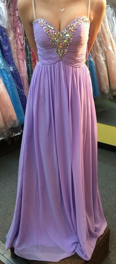 custom made a line chiffon sweetheart prom