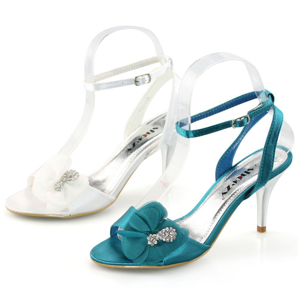 Womens Wedding Cheap Shoes Kitten Low Heels Ankle Strap