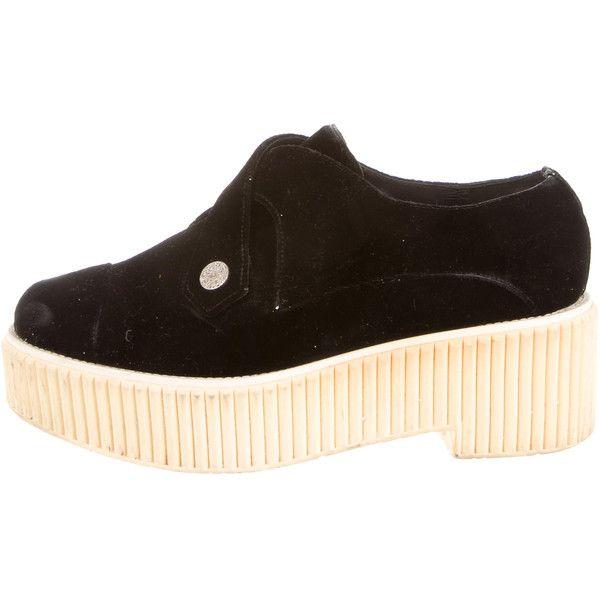 76d5103f5d Chanel Velvet Platform Loafers | Shoes | Velvet creepers, Strappy ...