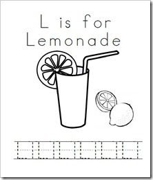 L is for Lemonade! Preschool Activities & Printables