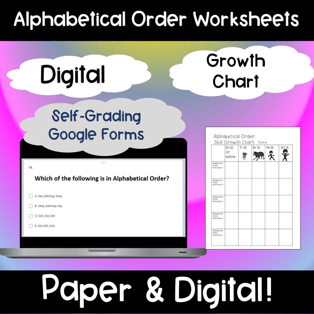 Abc Order Form Pdf Abc Order First Grade Phonics Word Work Centers [ 1035 x 800 Pixel ]