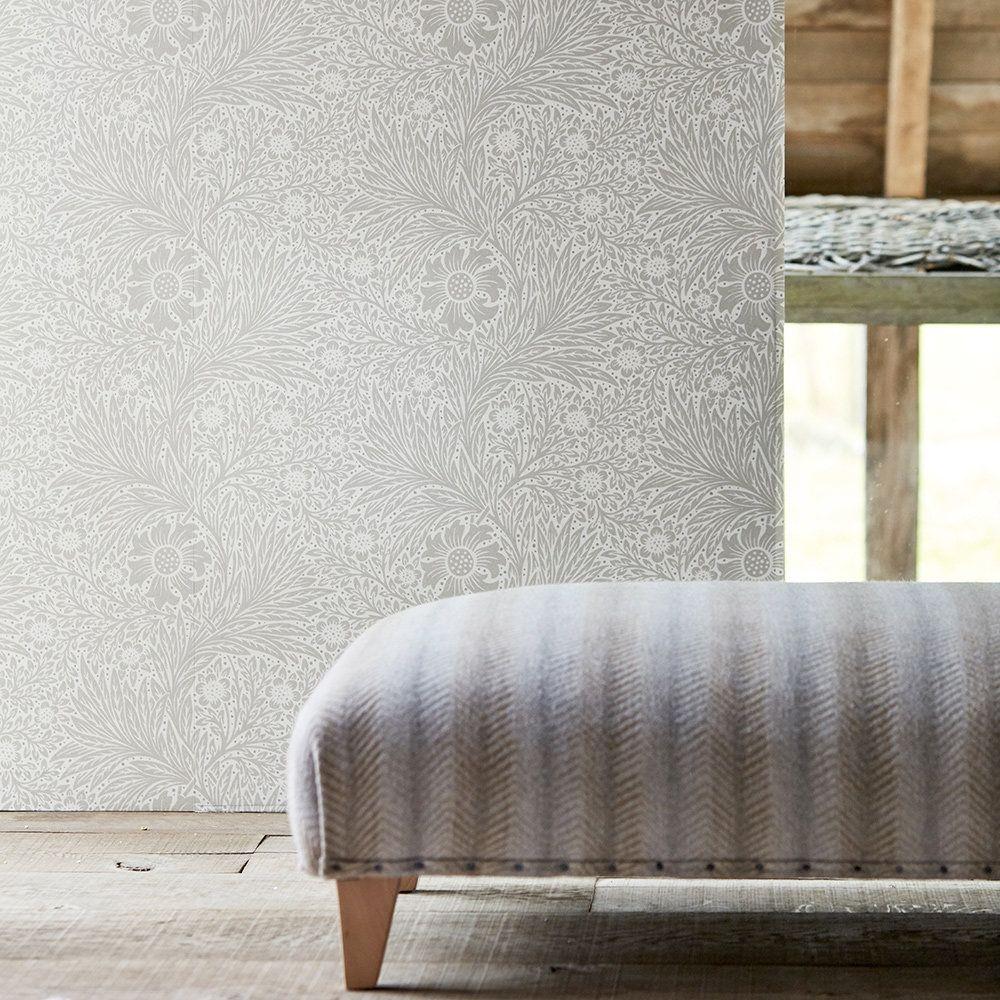 Pure Marigold by Morris - Cloud Grey - Wallpaper - 216536 ...