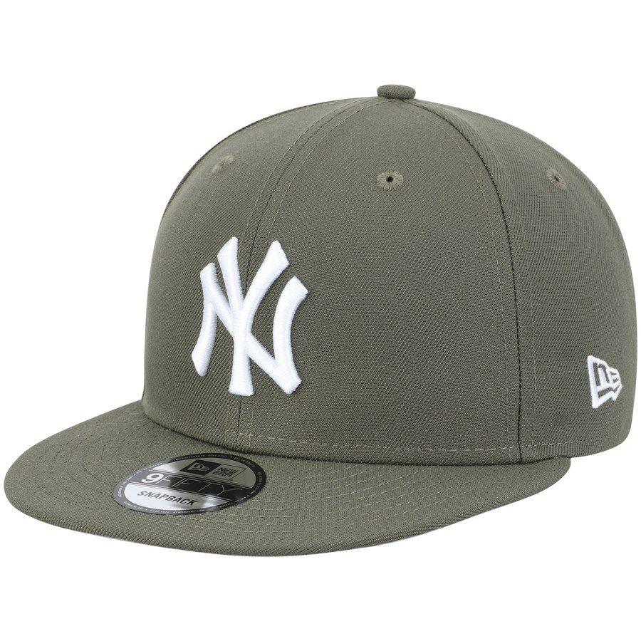 64be0824 Men's New York Yankees New Era Olive Basic 9FIFTY Adjustable ...