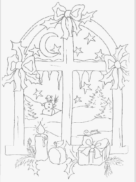 Christmas coloring sheets - Window color weihnachten malvorlagen kostenlos  #coloringsheets