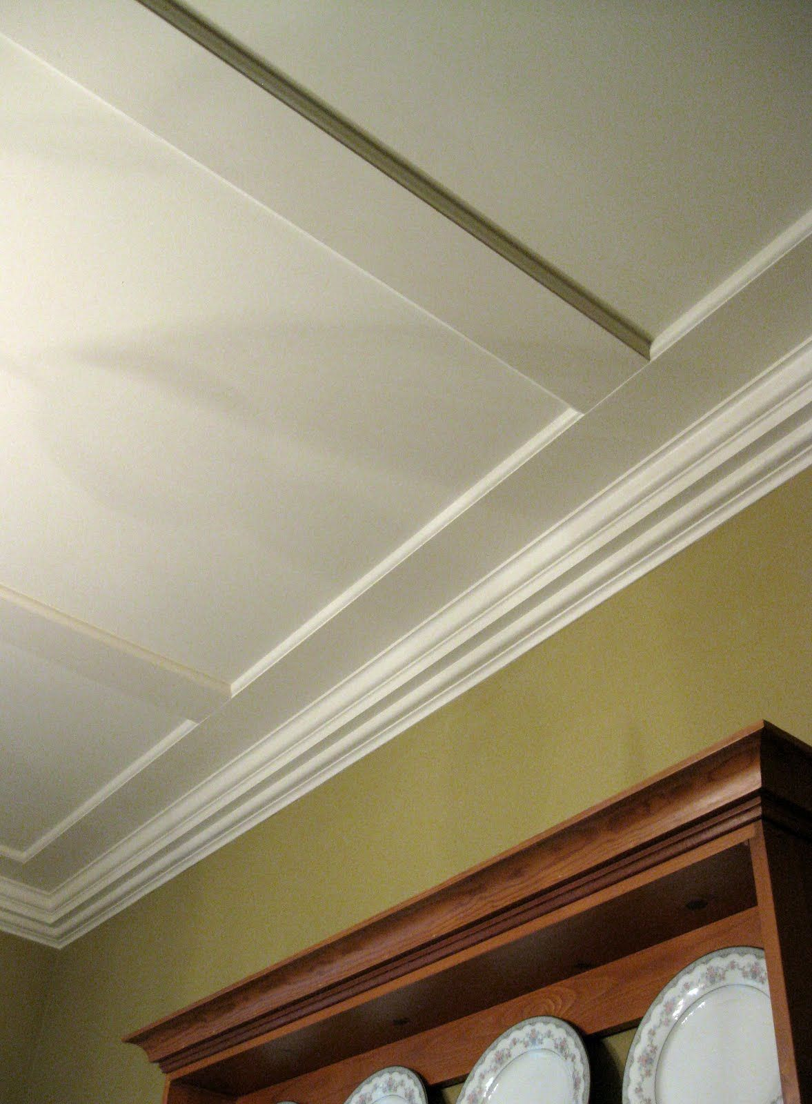 Faux Coffered Ceiling In This Photo The Long Run Of