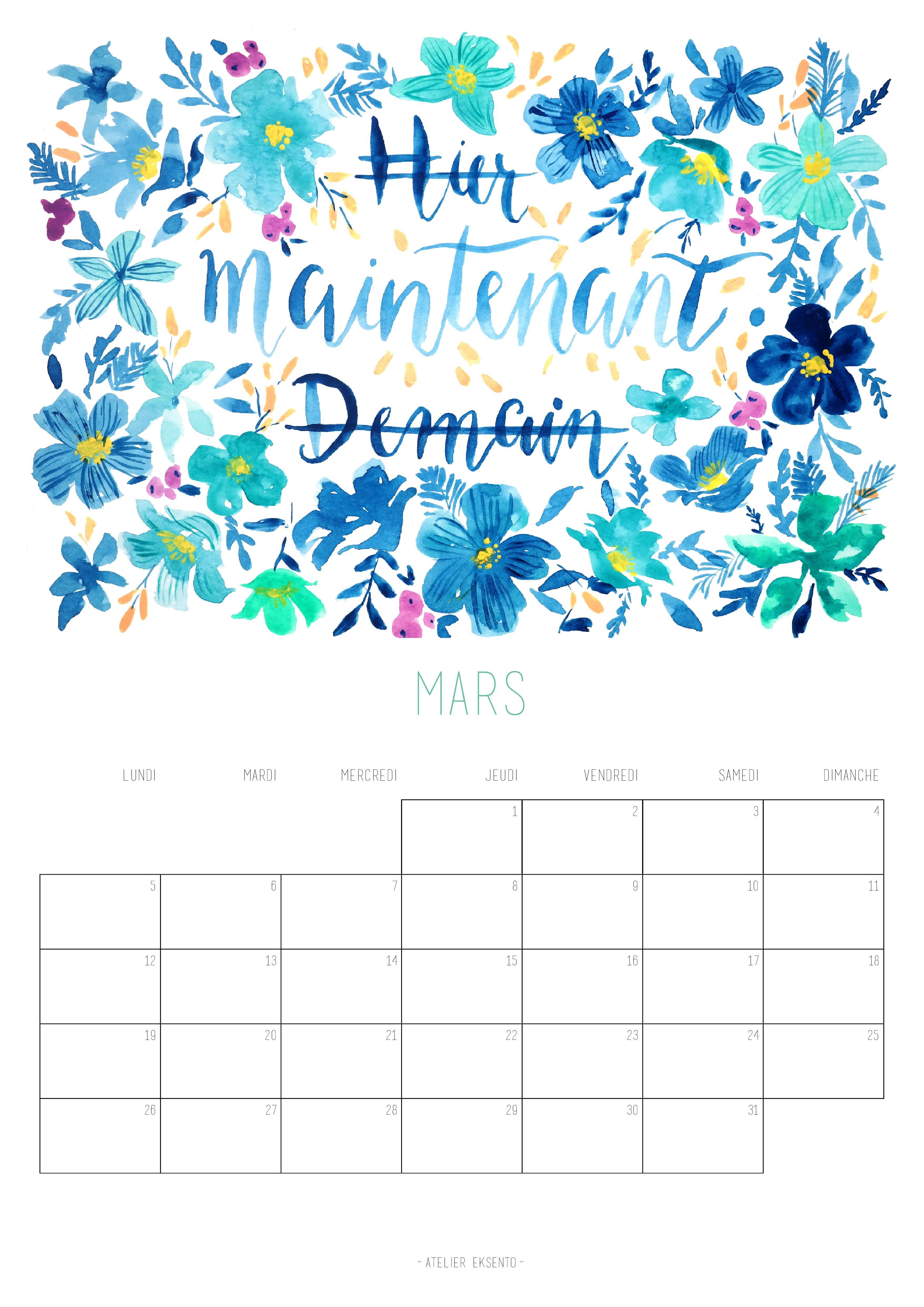 Calendrier 2019 Illustration Florale Calendrier Et Calendrier 2018