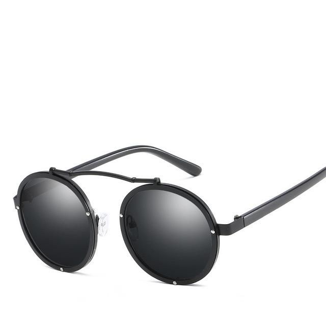 4923729a2 High Quality Gothic Steampunk Sunglasses Men Women Brand Vintage Retro Cool Round  Sunglass Mirror Male Sun Glasses Eyewear UV400