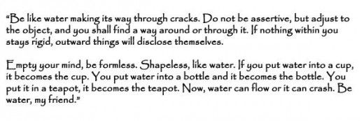 Bruce Lee's Quote on Water