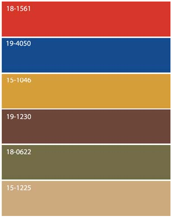 Color Palette Brown Olive Green Gold Beige Warm Red Cool Blue All Colors Of Nature