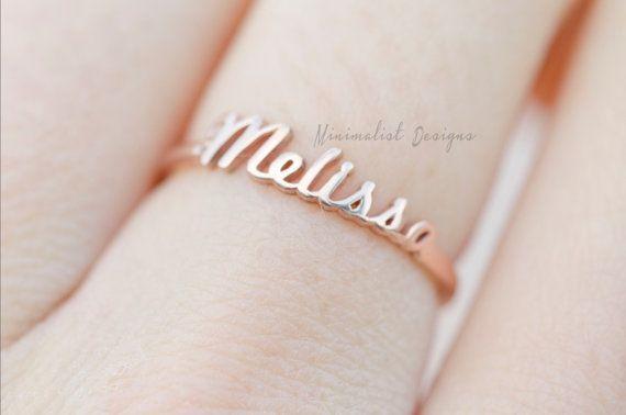 Sterling Silber, 925, personalisierte Ring, der Name Ring, erste Ring, gravierten Ring, Geburtstag, Valentinstag, Brautjungfern Ring, DHL Express