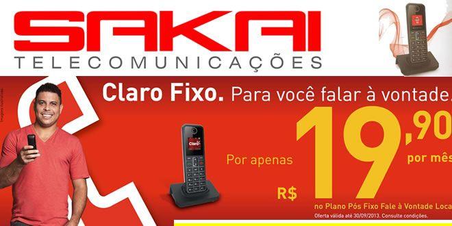 SAKAI TELECOMUNICAÇÕES APRESENTA  CLARO FIXO PARA JACAREZINHO - http://projac.com.br/noticias/sakai-telecomunicacoes-apresenta-claro-fixo-para-jacarezinho.html
