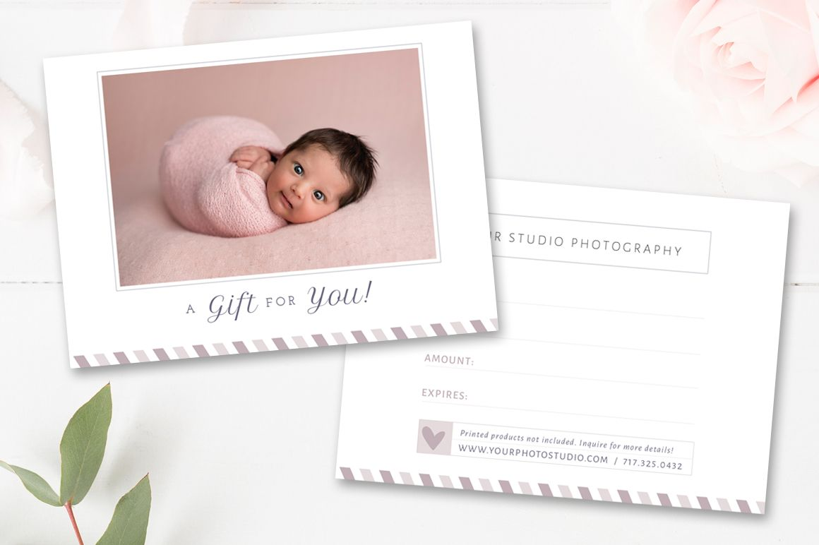 Newborn Photographer Gift Card  Photographer Templates  Gift