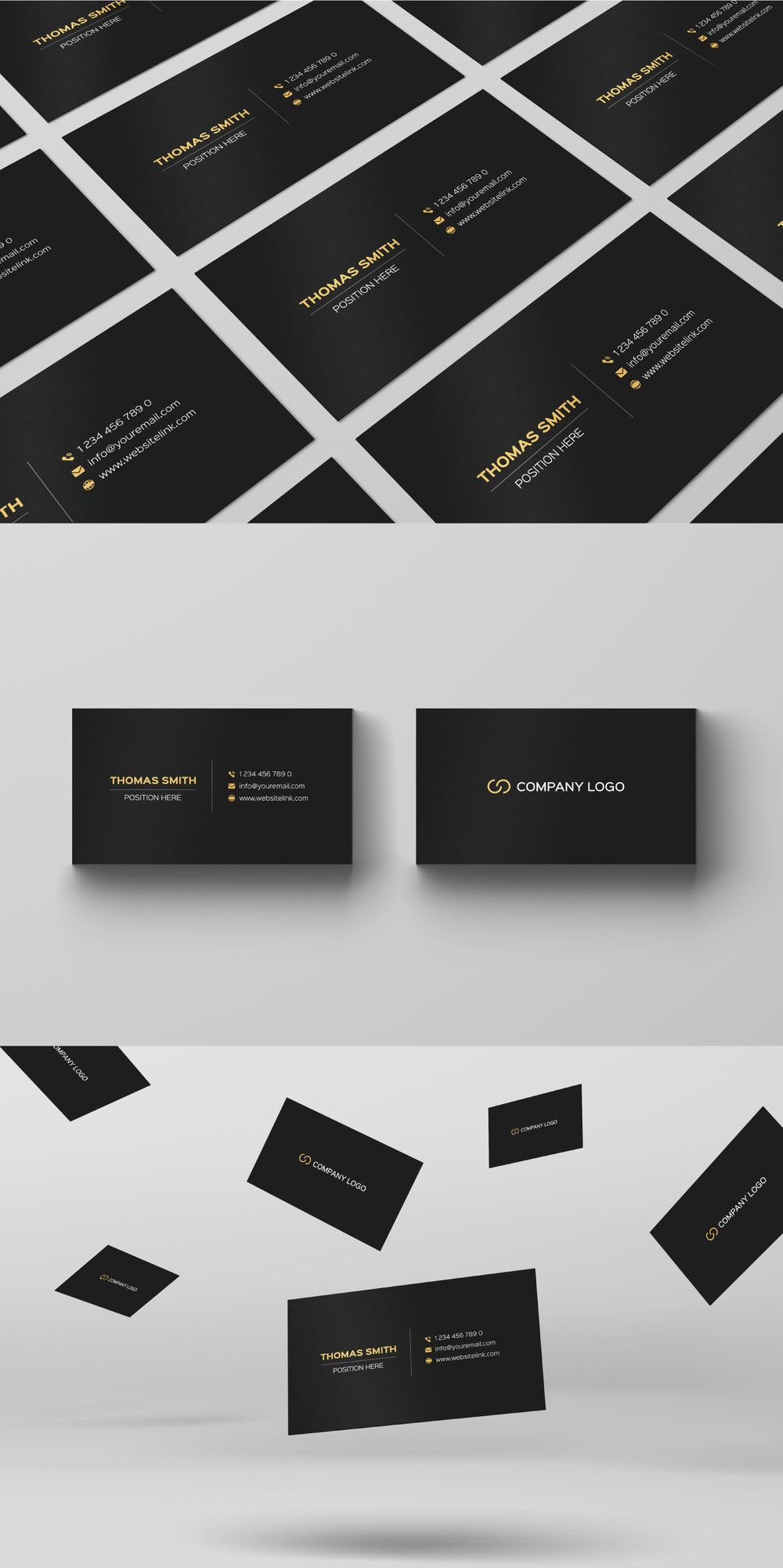 Free Minimalistic Black Gold Business Card Template Pixel Surplus Resources For Creators Gold Business Card Photography Business Cards Template Vintage Business Cards Template