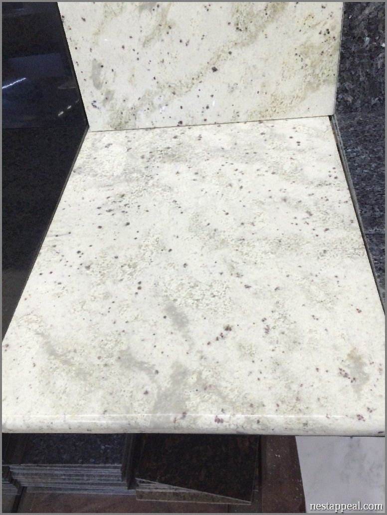 Granite Tile Countertop In Bianco Romano Affordable Cream Gray And