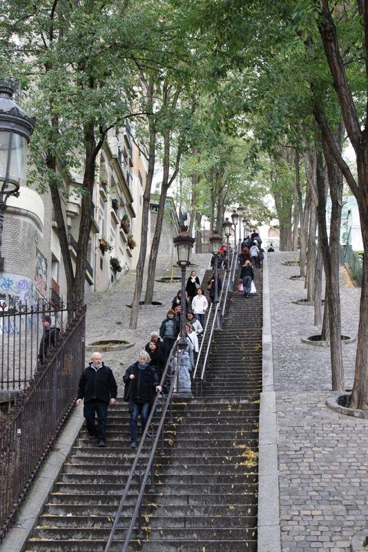 Escaliers de Montmartre, Paris