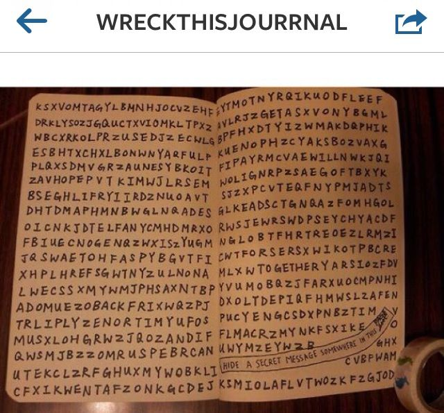 Hide a secret message somewhere in the journal..