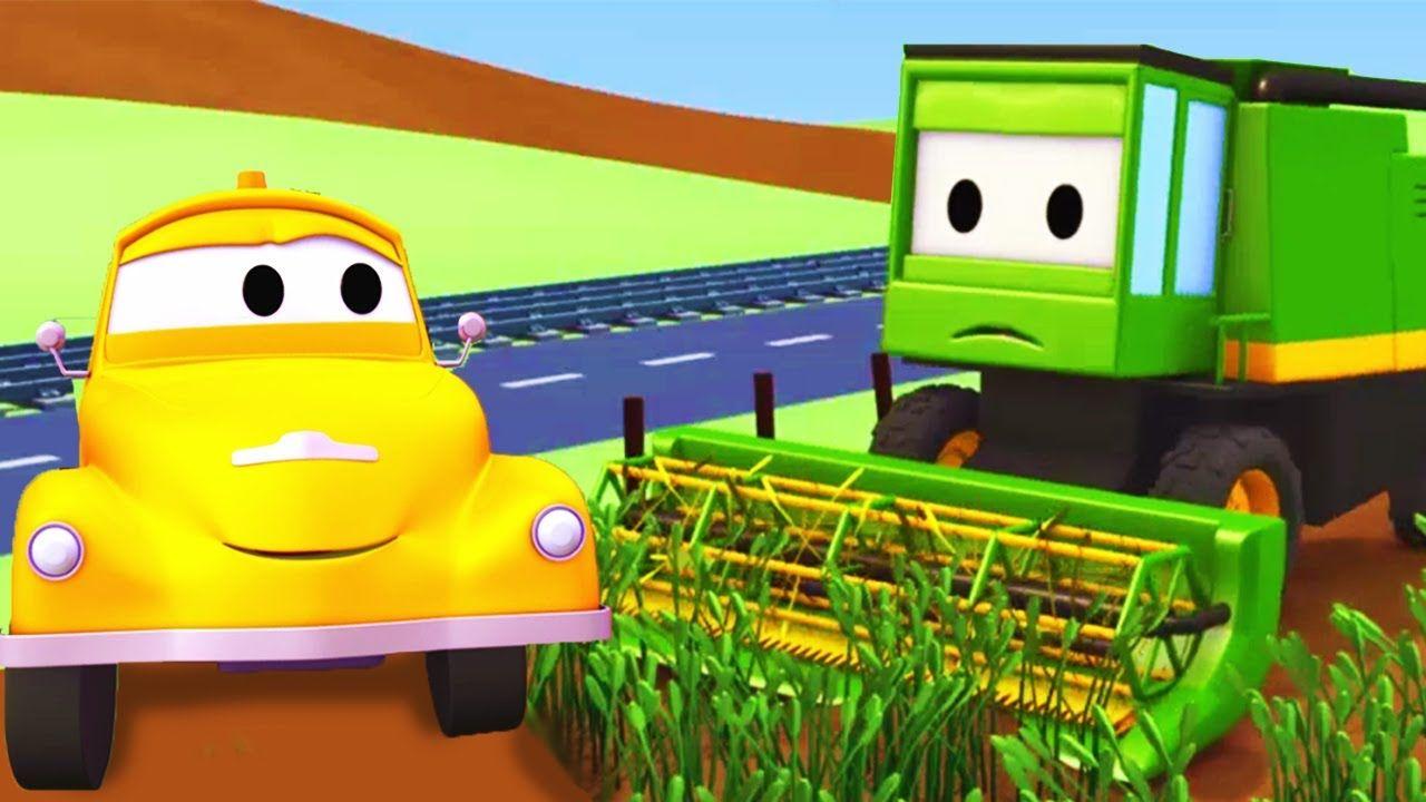 De combine tom de takelwagen in autostad cartoons voor