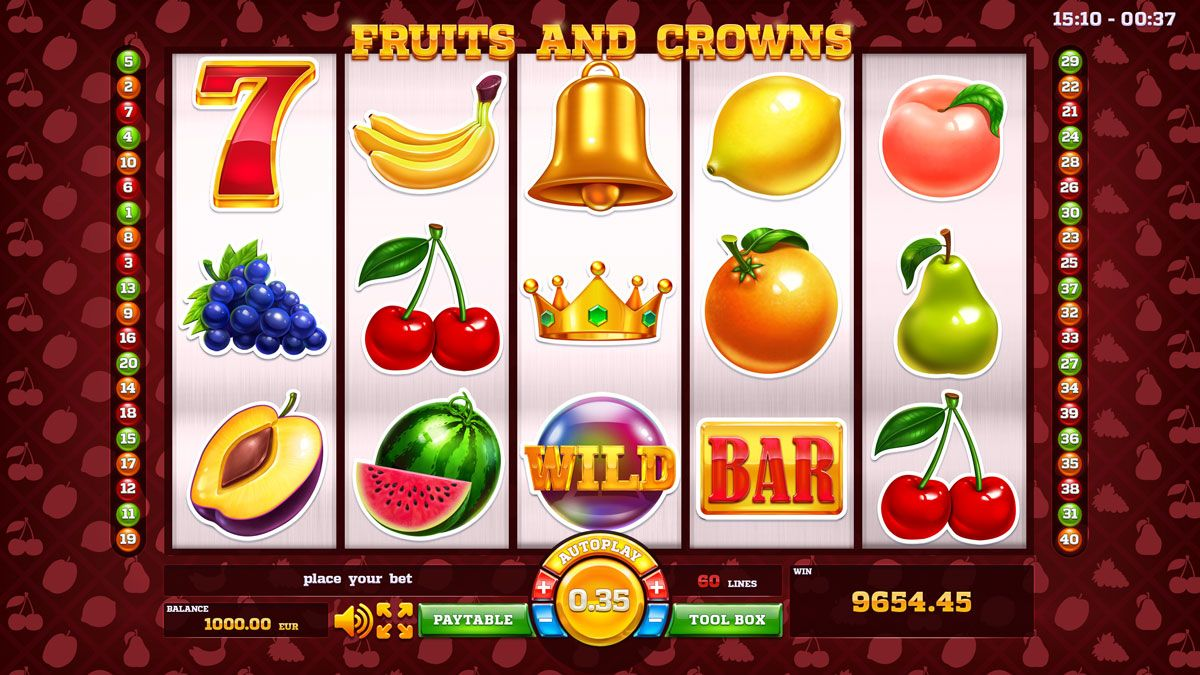 Fruits and Crowns | Nails in 2019 | Slot machine, Slot