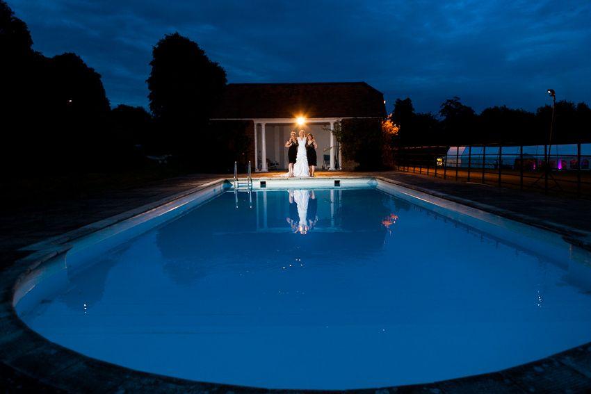 manor house wedding venue, swimming pool wedding photo, rural wedding venue, unusual wedding venue