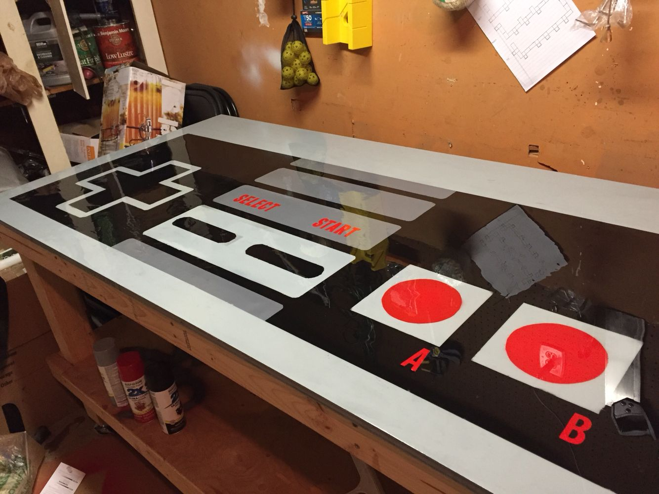 DIY Nintendo Controller Table! Done by me bcru!
