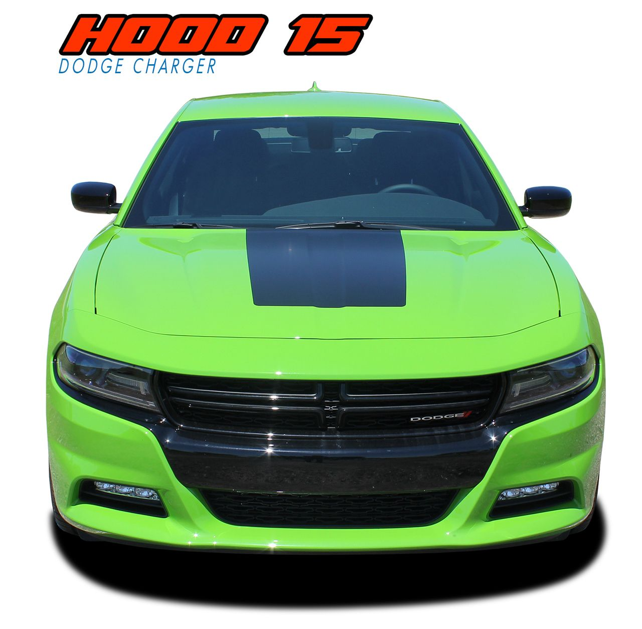 2015 2016 2017 2018 dodge charger daytona hemi srt 392 center hood vinyl graphics decal stripes
