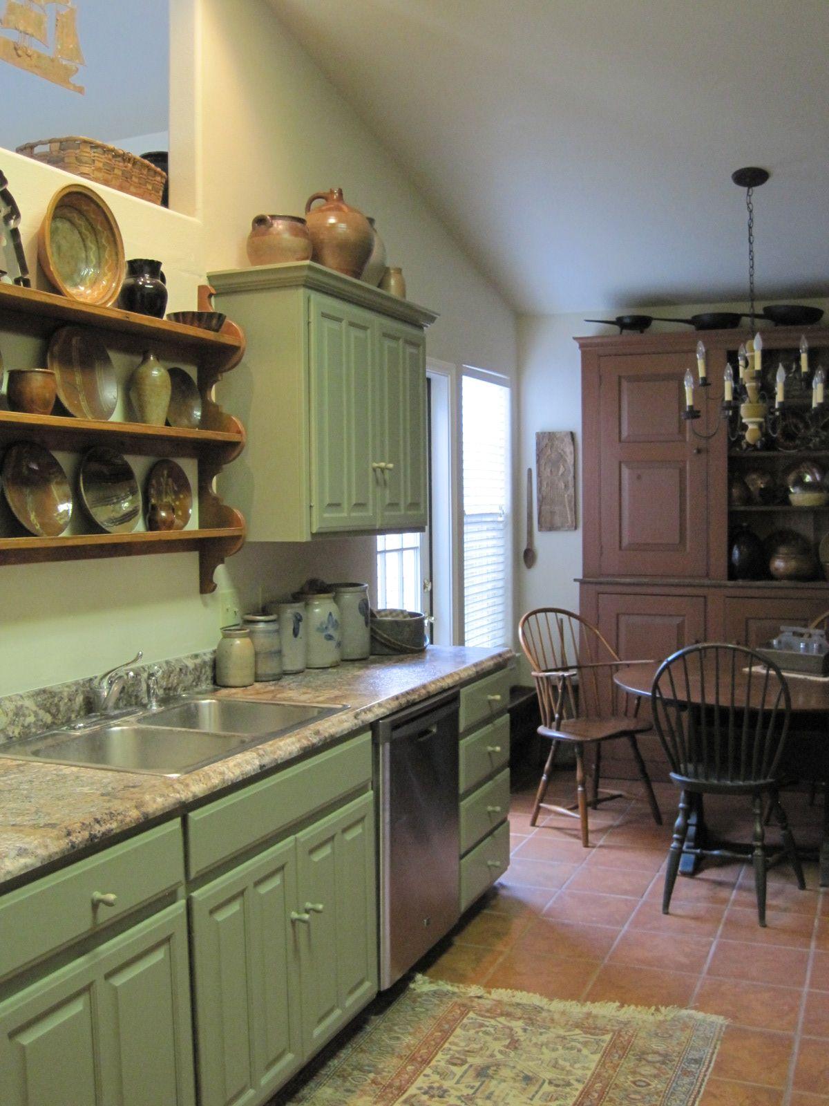 FARMHOUSE - INTERIOR - vintage early american farmhouse ...