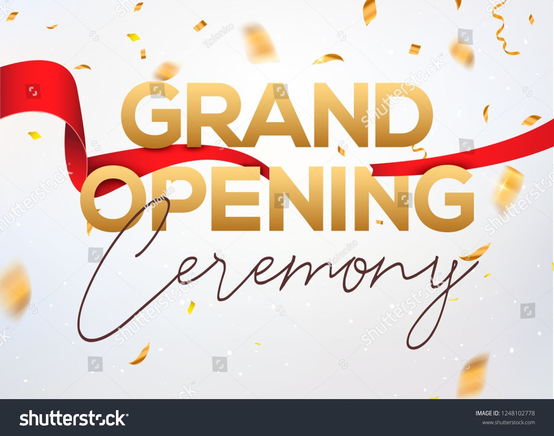 grand opening ceremony poster concept invitation grand