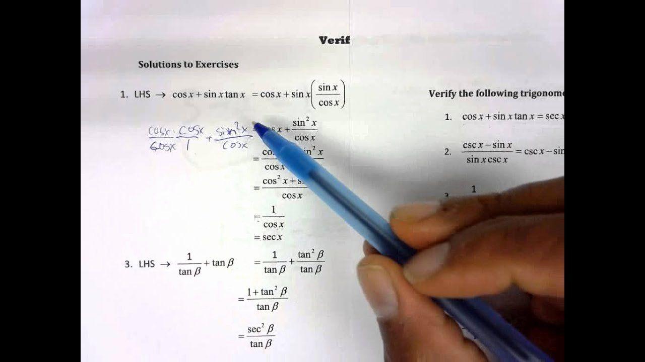 Verify Trig Identities Worksheet New Worksheet Verifying Trigonometric Identities Wo In 2020 Subtracting Integers Worksheet Super Teacher Worksheets Algebra Worksheets
