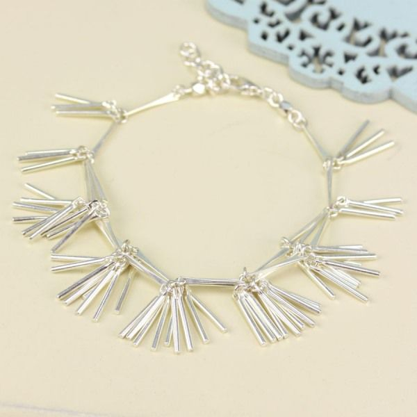 Freda Silver Tassel Bracelet for £12.00 at www.lisaangel.co.uk